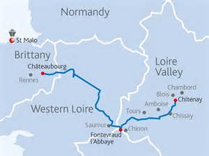 map of loire valley