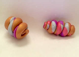 Gold twisted beads